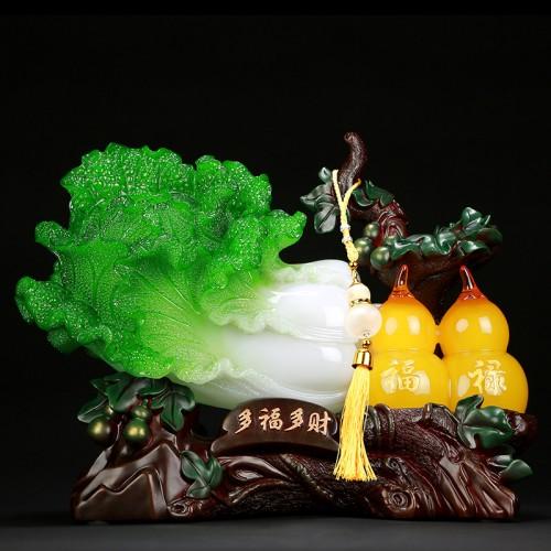 白菜葫芦摆件福字葫芦家居店铺书桌办公室装饰0157